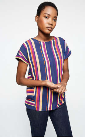 Lioraa Multicolor Stripes Blouse