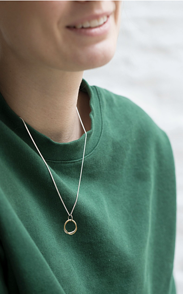 N1-H-BS Brass/Silver Necklace