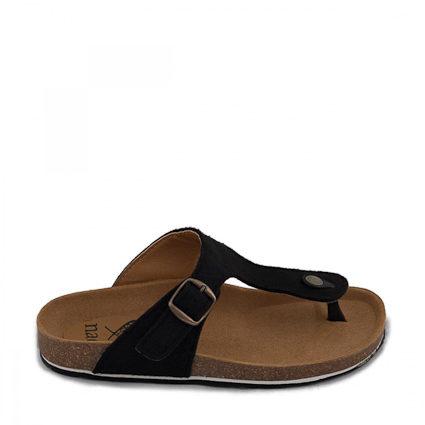 Kos Black Thong Sandal