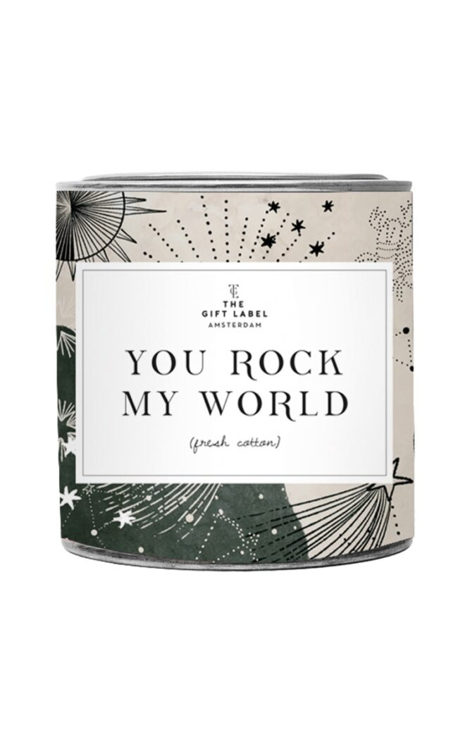 You rock my world- Fresh Cotton
